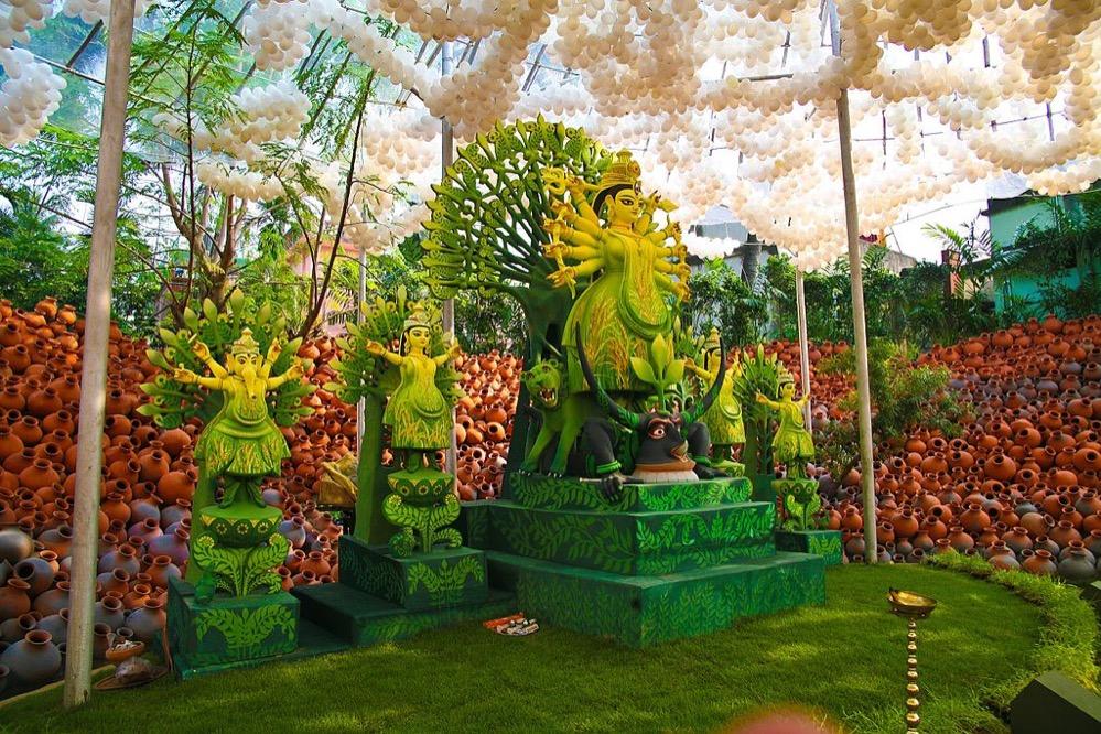 El colorido festival hindú Navratri
