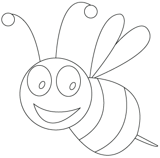La Bussola Della Rete » Blog Archive » bee-drawing-to-color