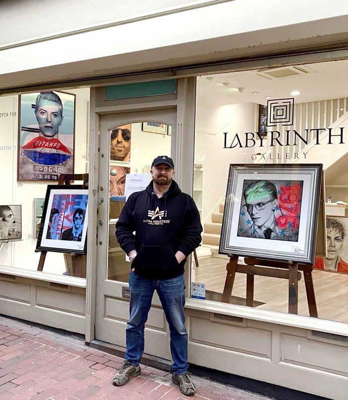 Louis Sidolli outside labyrinth art gallery Brighton