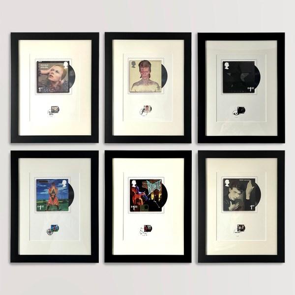 David Bowie Royal Mail 6 Stamps Set & Fan Sheet
