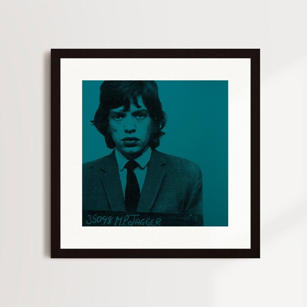 Mick Jagger Art - Labyrinth Art Gallery Brighton - Most Wanted Series Louis Sidolli