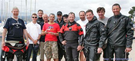 Le Team extrem Dive 120 à la sortie de la plongée sur l'épave du Bananier