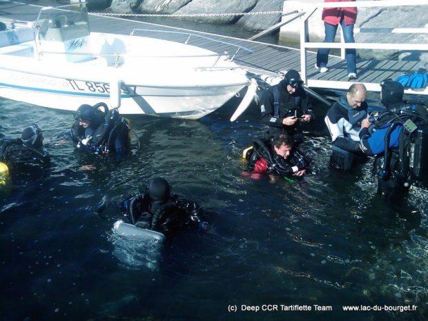 Baptême de plongée en recycleur dans le port