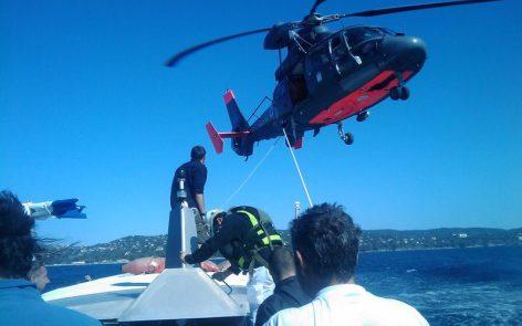 Hélitreuillage lors d'un accident de plongée