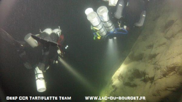 plongee lac du bourget chemin du curé deep ccr tartiflette team