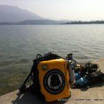 plongée avec un temps magnifique pour un 24 Mars au lac du Bourget