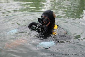 Plongee essai recycleur Triton m3s