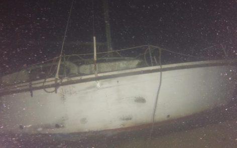 Plongée Recycleur épave voilier lac du Bourget