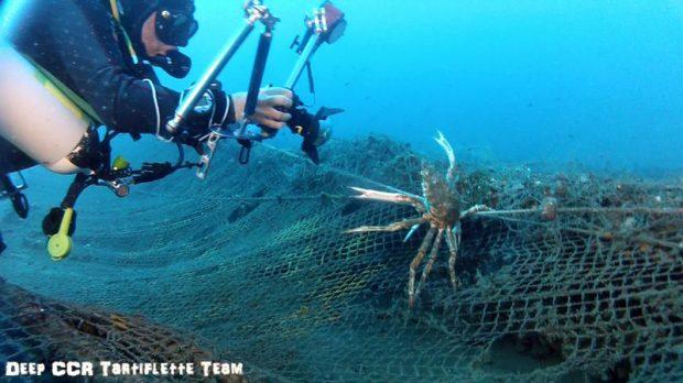 plongee recycleur La barge de la Marana Bastia Corse