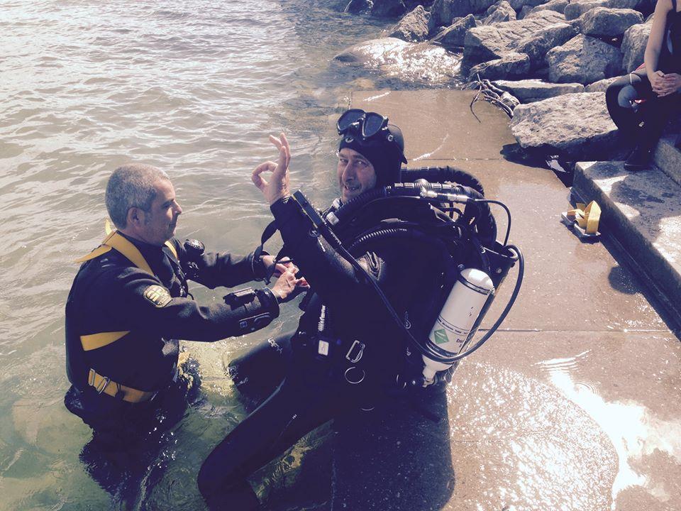Laurent part plonger journée découverte des recycleurs au lac du Bourget