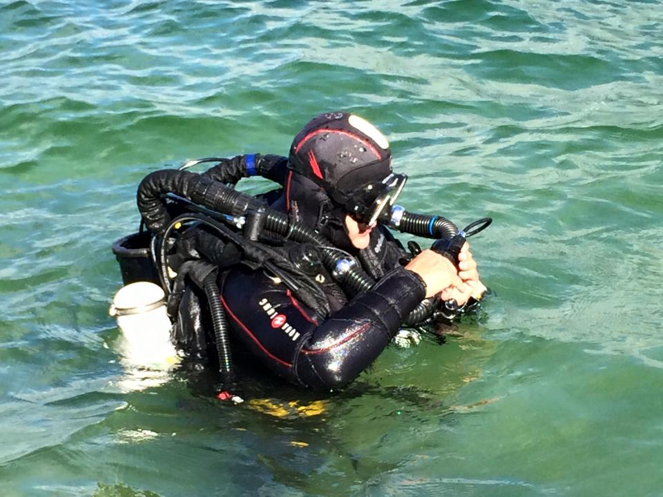 Eric prêt à Partir journée découverte des recycleurs au lac du Bourget