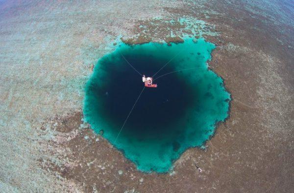 Le puits géant de ce Blue Hole a été découvert dans la mer de Chine méridionale