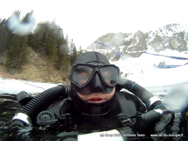 Plongée sous glace en Recycleur