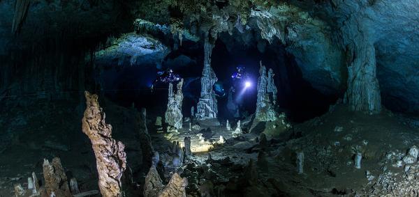 Plongée souterraine cave diving Mexico (c) Protec