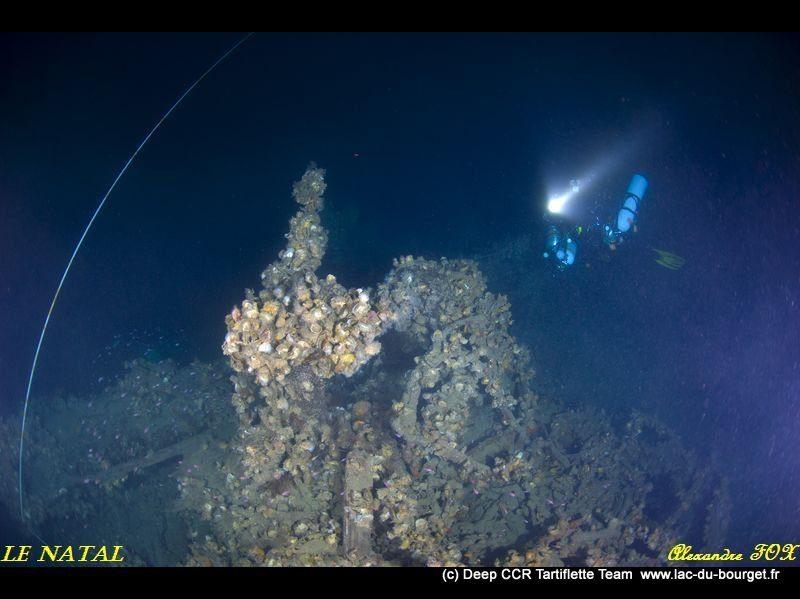 Plongée sur épave profonde le Natal