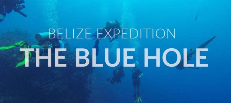 Richard Branson et Fabien Cousteau au blue Hole du Belize