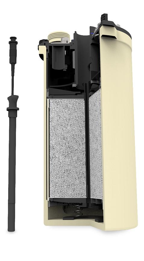 Scrubber axial avec sonde de température Tempstick