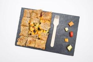 présentation galette légume La Cabane du Breton Crêperie Restaurant à Arcachon