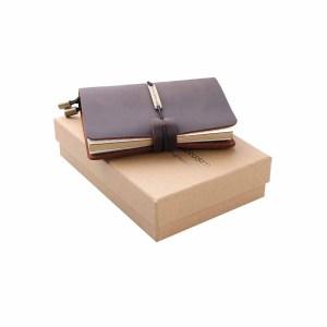 cuaderno de apuntes de cuero