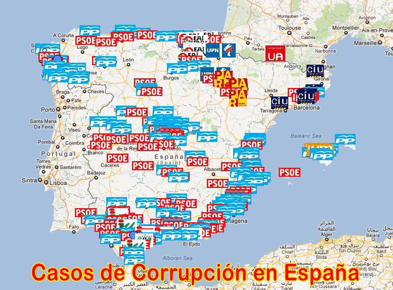 Resultado de imagen de geografia de la corrupción