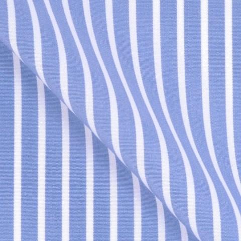 Blau Weisser Hemden Stoff aus Baumwolle Twill