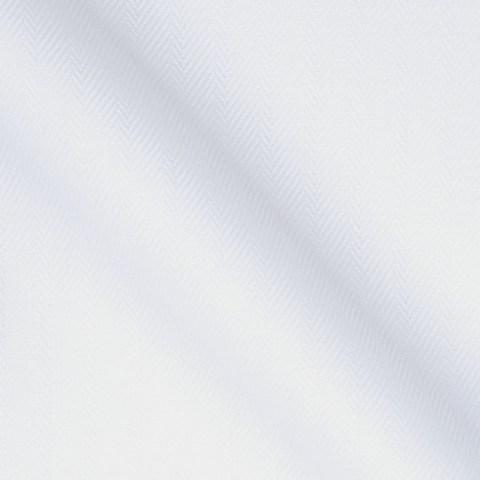 Weisser Hemden Stoff mit Fischgrat Muster
