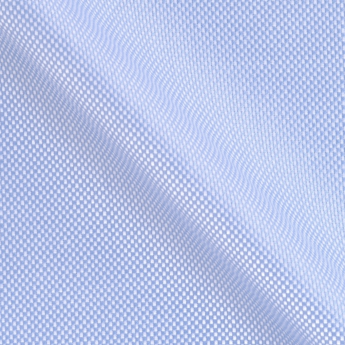 Slim Fit – Casual Hemd mit Haifisch Kragen – Oxford Two Ply