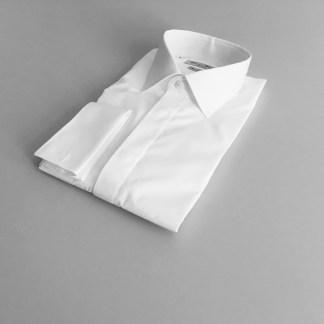 Comfort Fit – Smokinghemd mit Kent Kragen – Popeline Two Ply