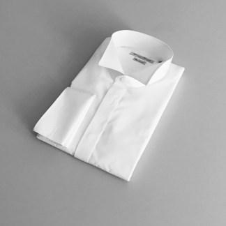 Comfort Fit – Smokinghemd mit Vatermörder Kragen – Popeline Two Ply