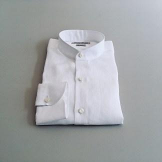 Slim Fit – Leinenhemd mit Stehkragen – Extra Soft Leinen