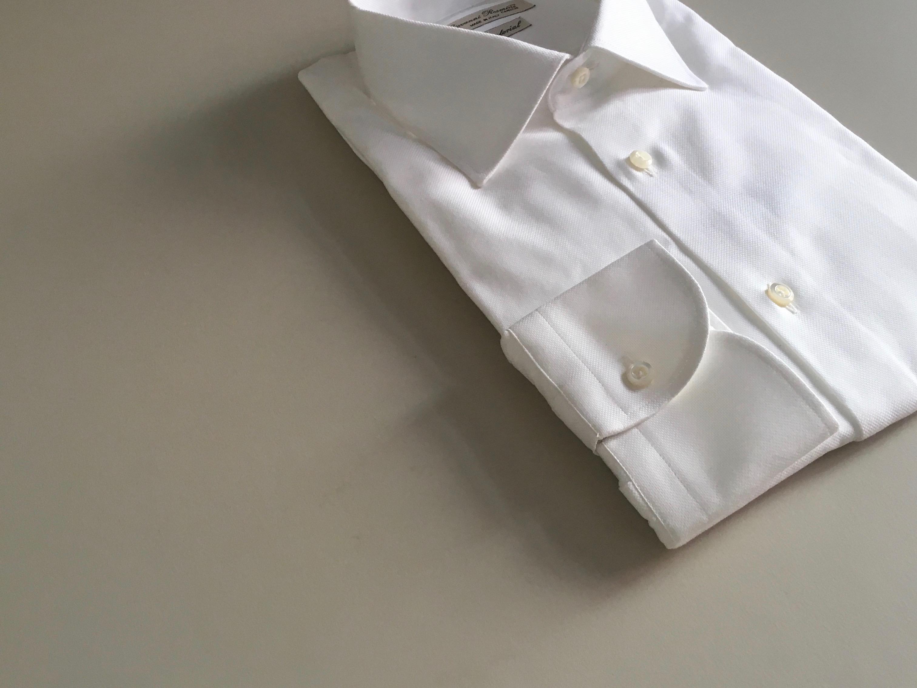 Weisse Oxford Hemden mit klassischem Kent Kragen