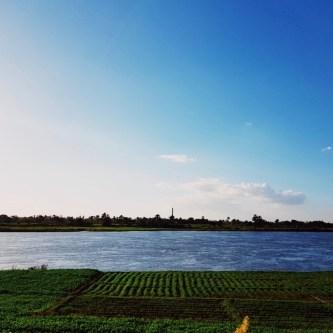Baumwolle Anbauflächen am Nil in Ägypten