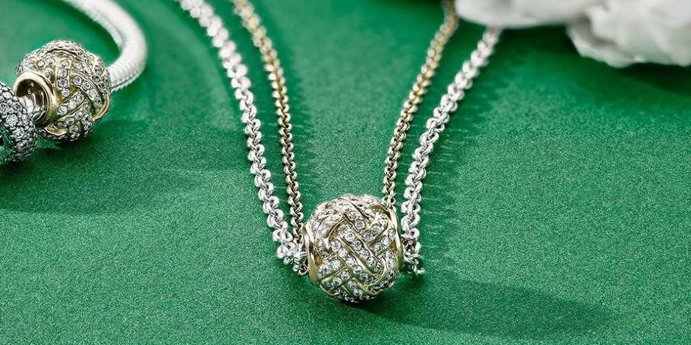 PANDORA 14k Gold Charm Necklace