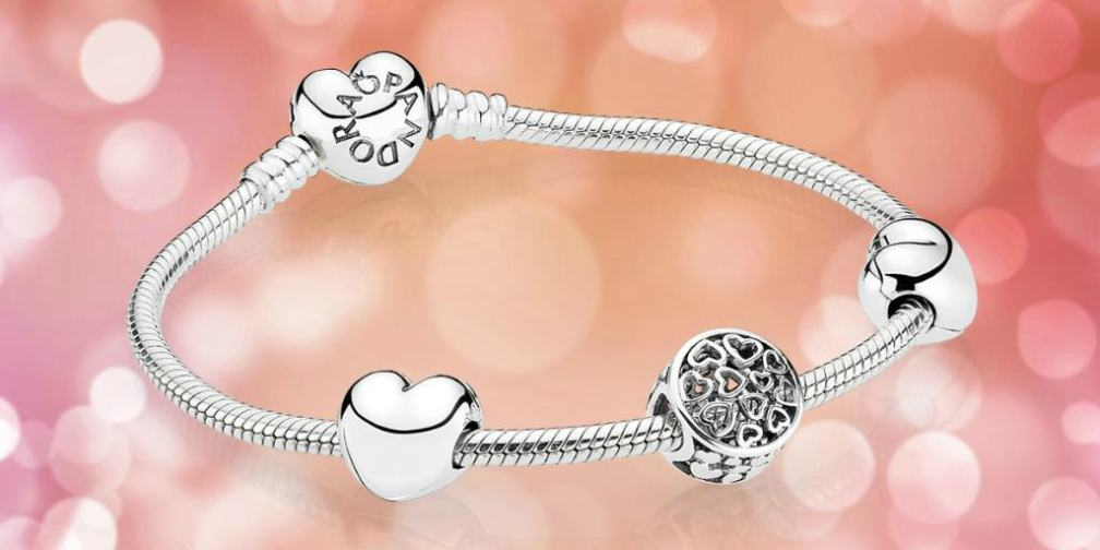 PANDORA Bracelet with Clips and Charm