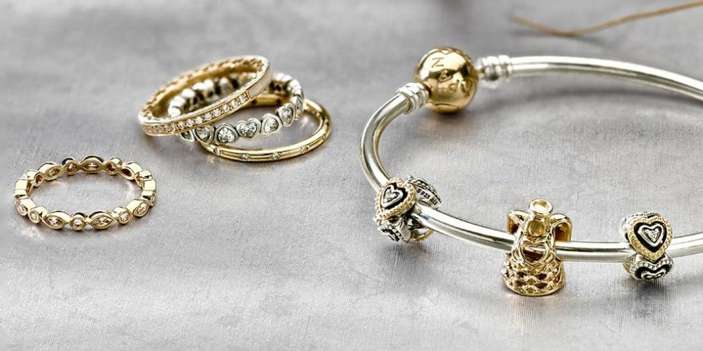 PANDORA Gold and Sterling Silver Charms