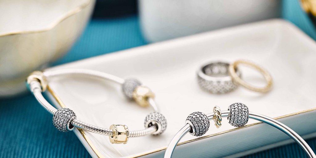 PANDORA Pavé Charms and Bracelet