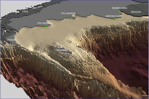 Resultado de imagen de plataforma continental mar del plata