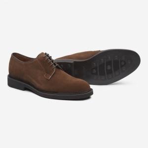 Zapato de ante suela de goma