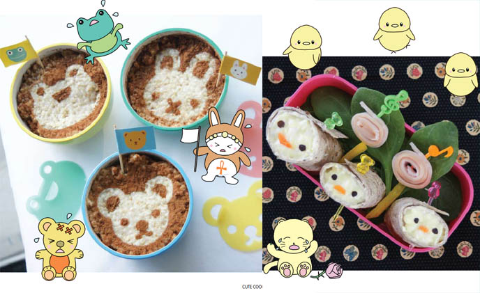 Cute Yummy Time book cover, cute cooking cookbook and recipes by La Carmina. Sanrio cookbook, Hello Kitty food, Japanese bento how-tos, instructions, kawaii cooking show, Japan cute characters faces on lunches for kids, creative cooking for picky eaters, best kid's cookbooks.