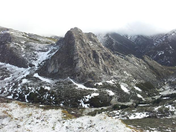 Vistas de las montañas en el Puerto Ventana, Teverga, Asturias