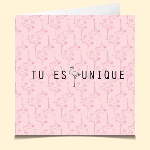 carte vocale parlante unique flamand rose