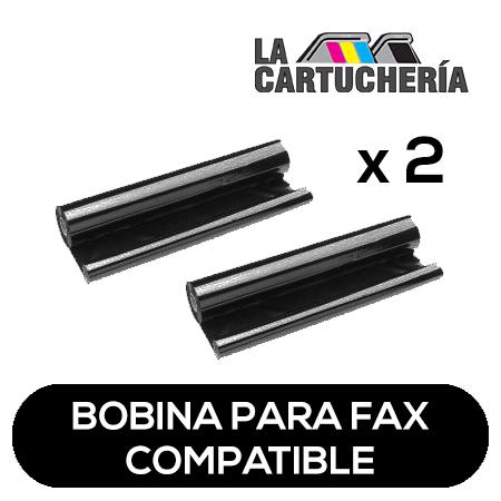 Panasonic Pack 2 bobinas para fax, reemplaza a KXFA136 Compatible