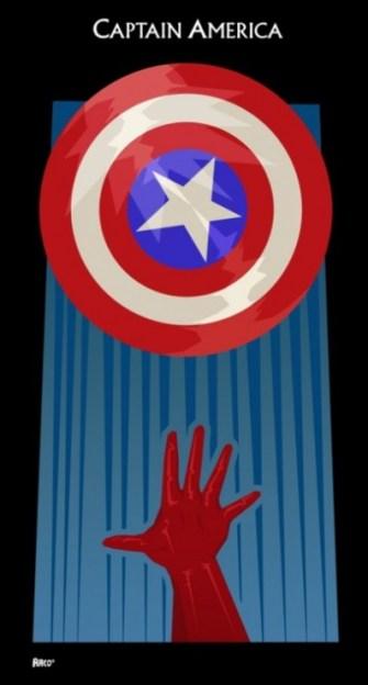 poster-minimalista-capitan-america