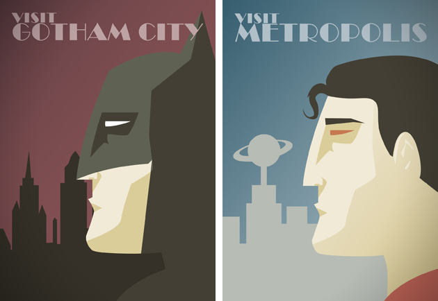 DC Comics Superheroe Travel Posters 0