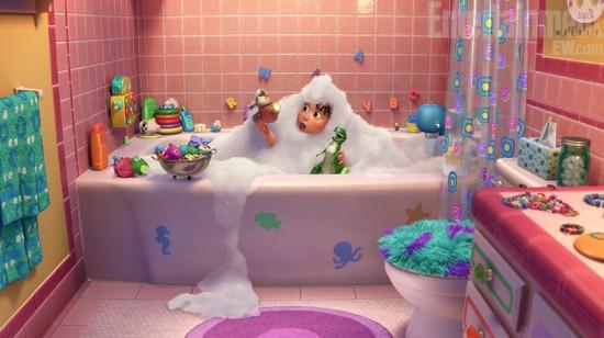 pixar partysaurus rex corto baño