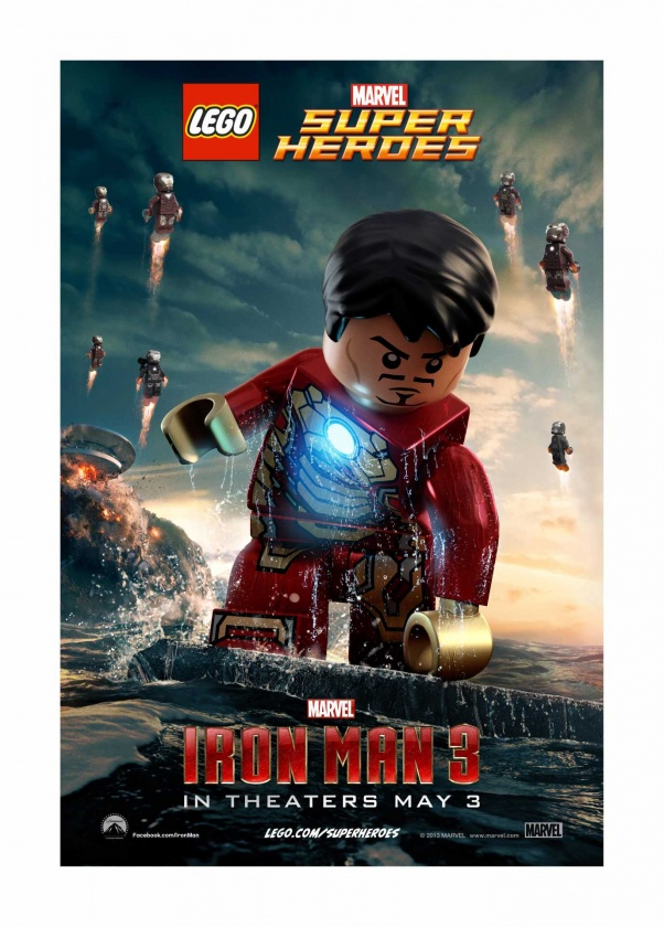 Iron Man 3  Pster Lego