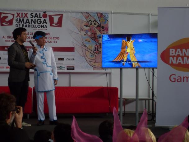 Ryo Mito presentando Saint Seiya Brave Soldiers