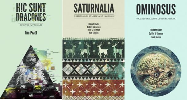 Parte del catálogo de Fata Libelly: Hic un dracones, Saturnalia, Ominosus.