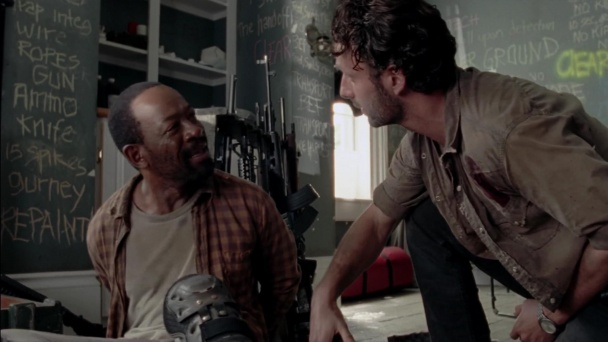 Morgan y Rick en The Walking Dead