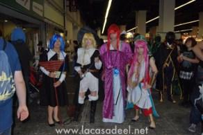 Cosplayers Anime Salón Cómic Barcelona